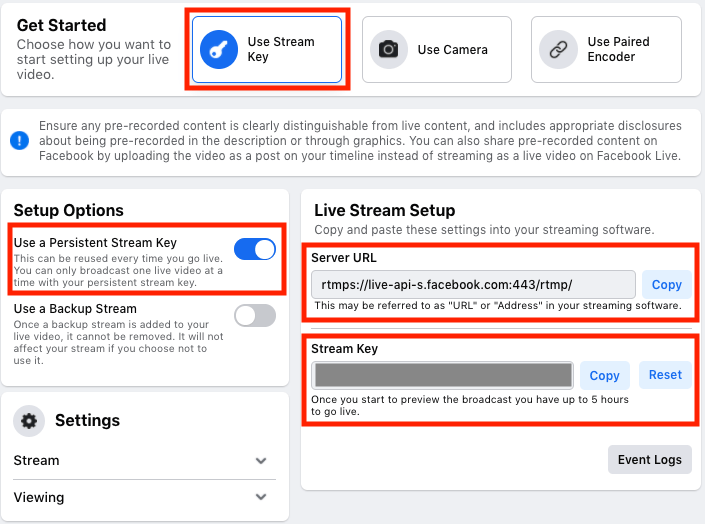 How to Connect Castr to Facebook Live